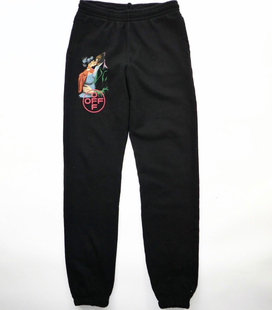 Off White Virgil Abloh Kiss Sweatpants - Medium