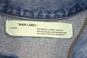 Off White Virgil Abloh Spray Denim Jacket - Medium