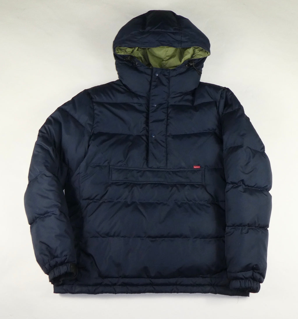 Supreme FW/11 Quarter Zip Small Box Logo Pullover Puffer Jacket - Medium