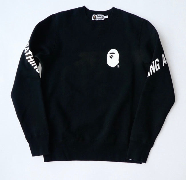 Bape Back Print Sweatshirt - Small