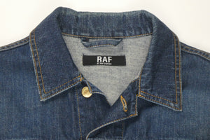Raf by Raf Simons Jersey Sleeve Denim Jacket - 50
