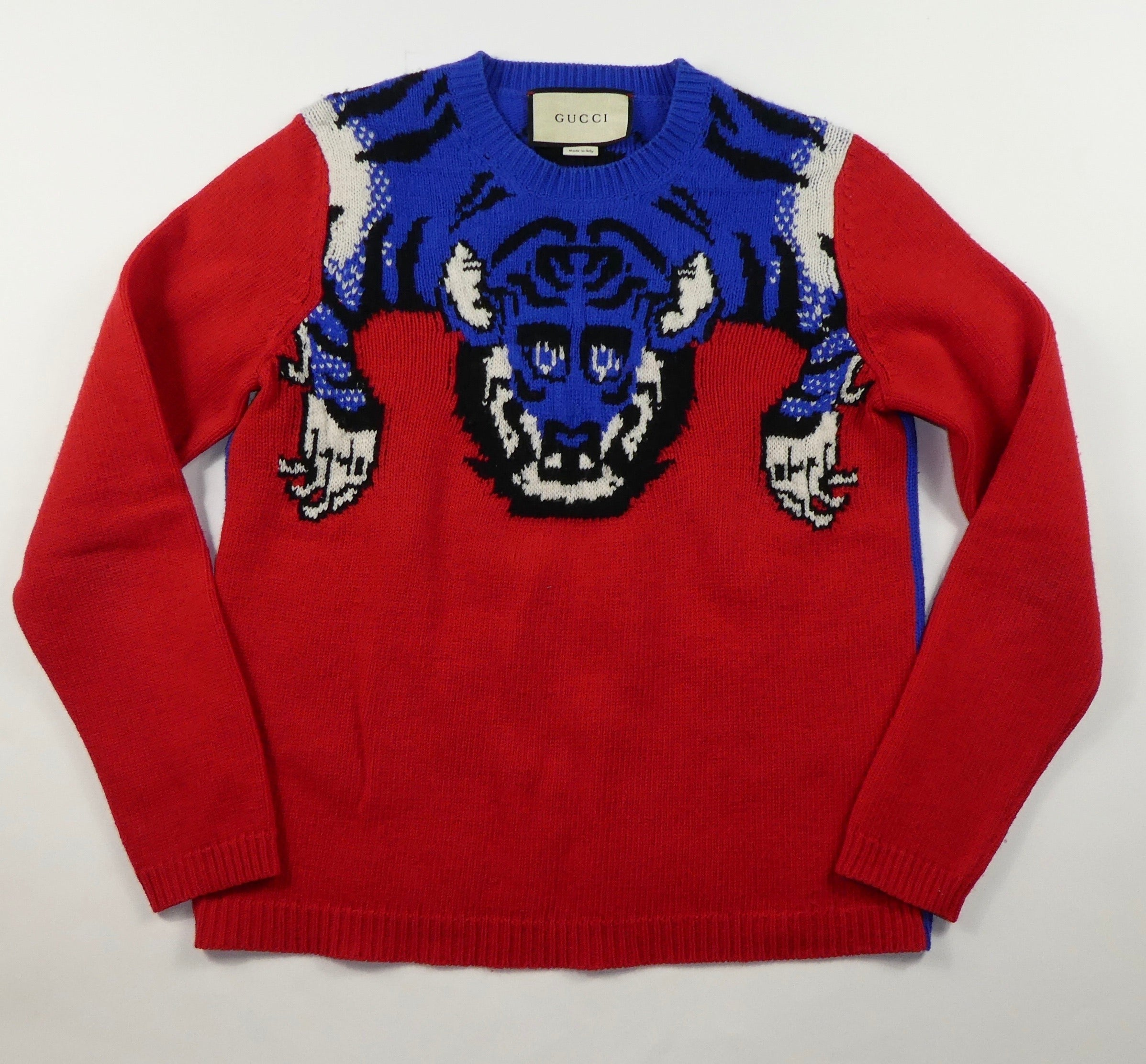 Gucci Crystal Tiger Knit Sweater - Small