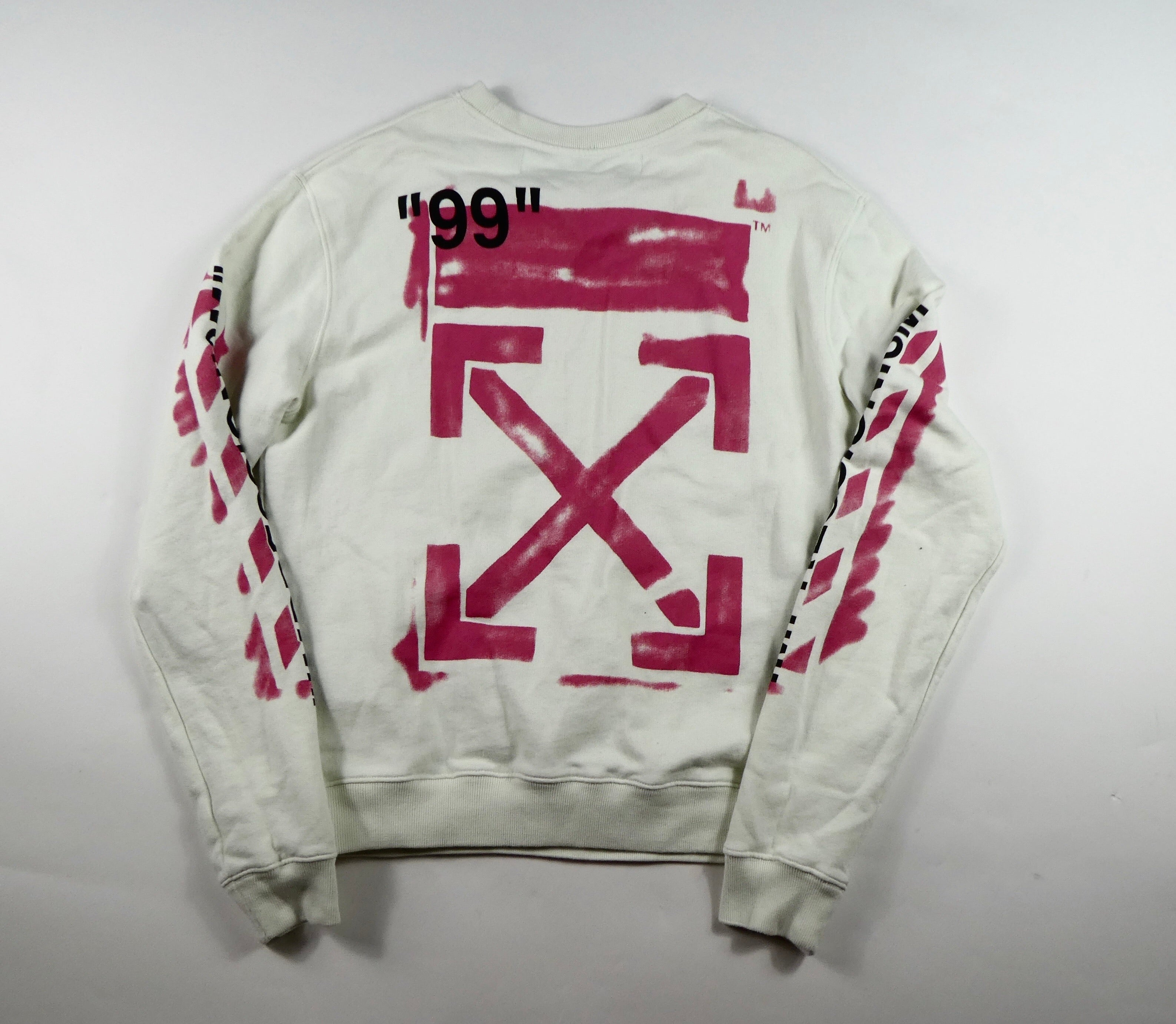 Off White Virgil Abloh Impressionism Arrows Sweatshirt - Medium
