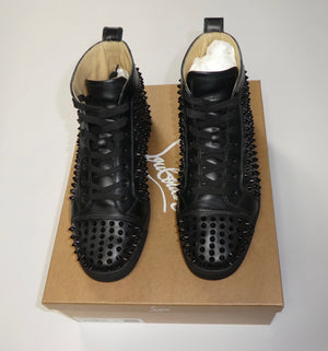 Christian Louboutin Louis Calf Spikes Black Calfskin