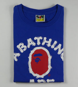 Bape College Logo T Shirt - Medium