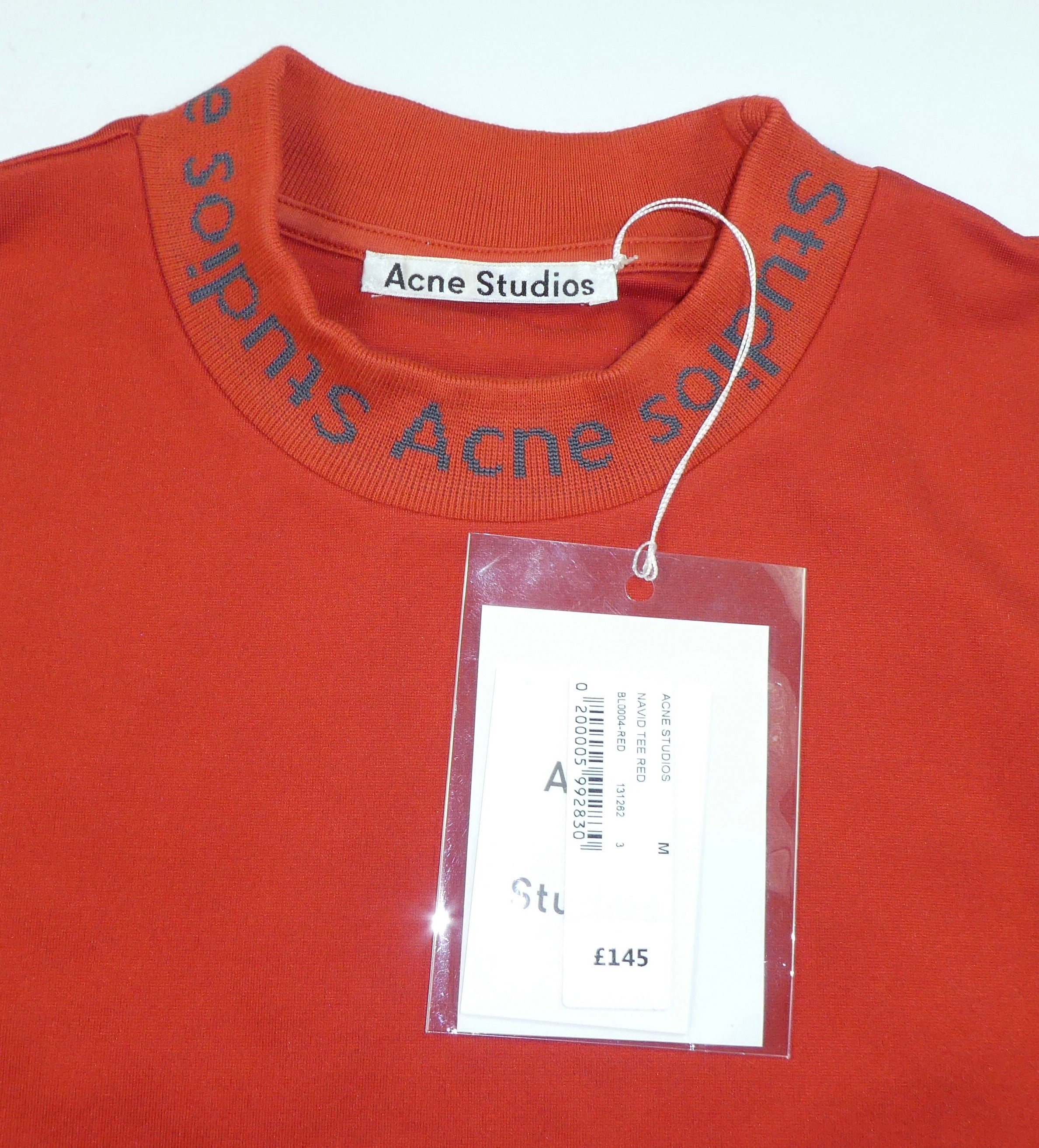 Acne Studios Navid Neck Logo T Shirt BNWT (£145) - Medium