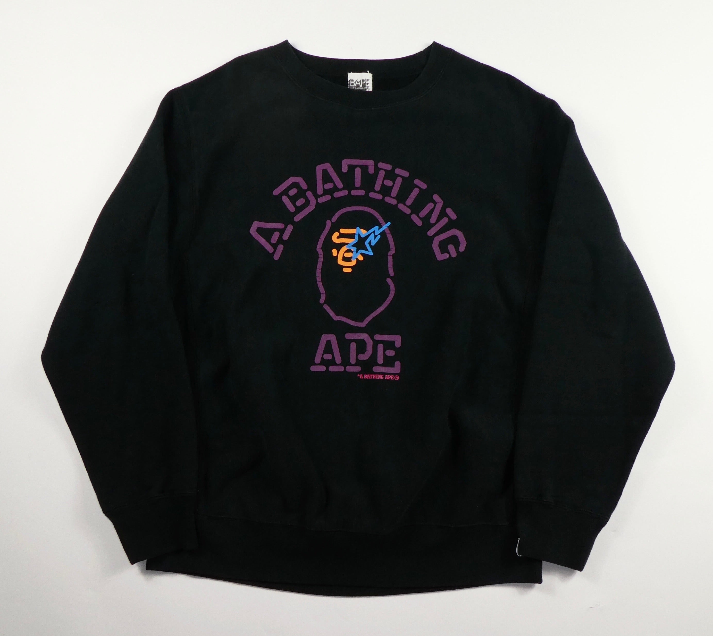 Bape Vintage College Logo Sweatshirt- Medium