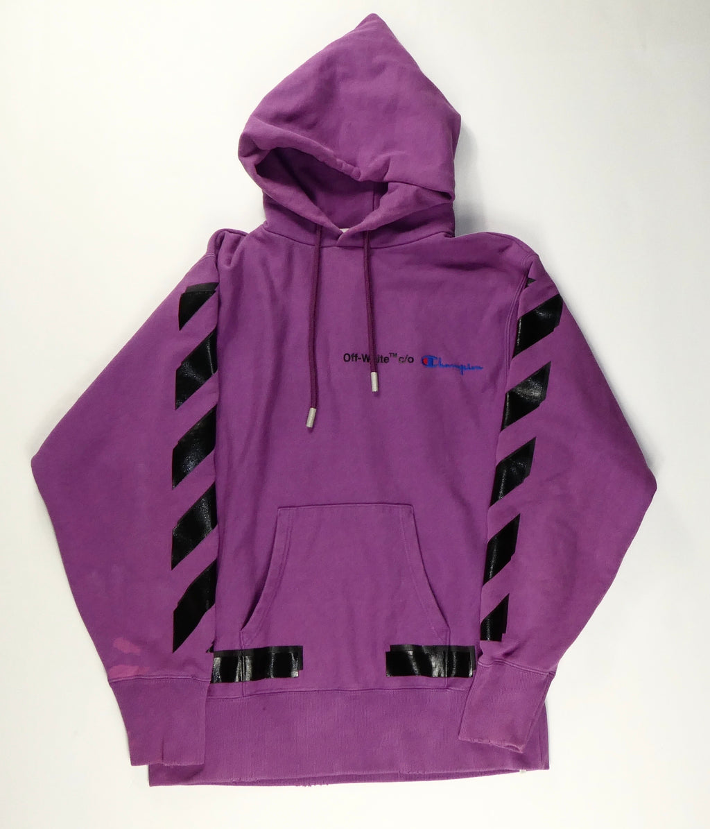 Off White Virgil Abloh x Champion Hoodie - Medium