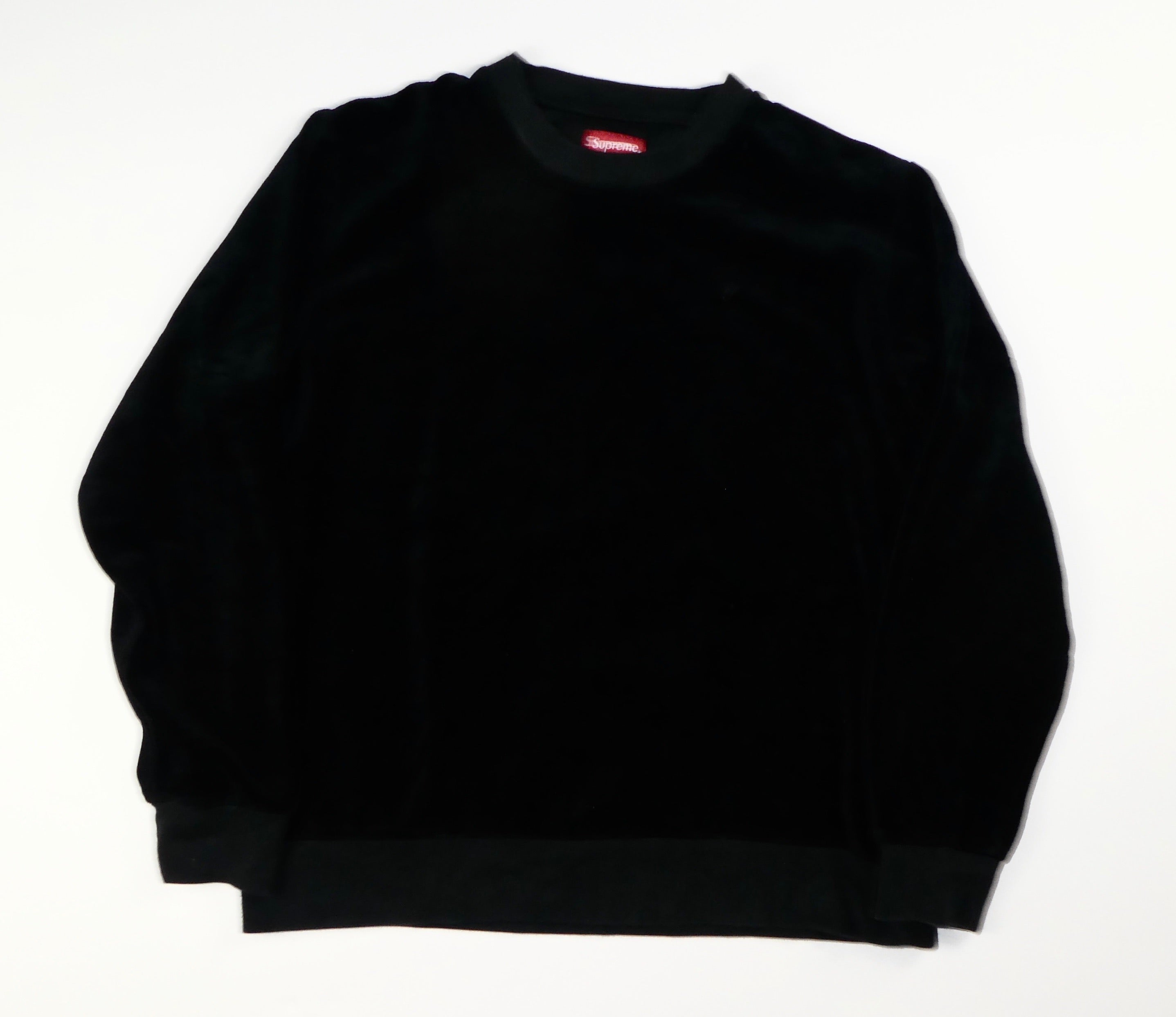 Supreme Velour Crewneck Sweatshirt- Medium