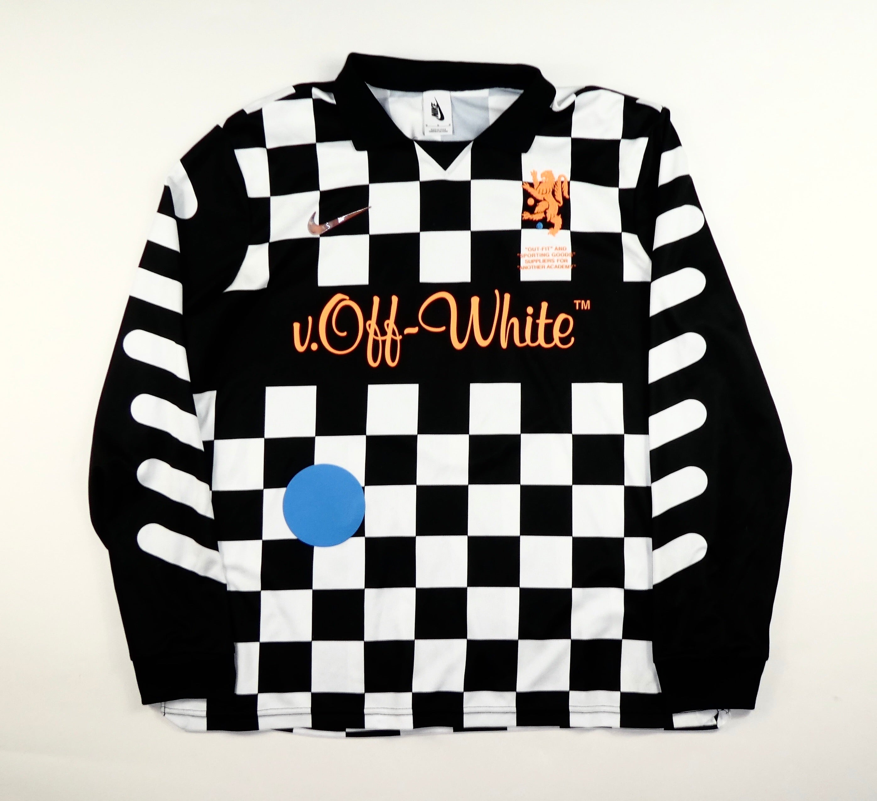 Off White Virgil Abloh X Nike Football Jersey - Medium
