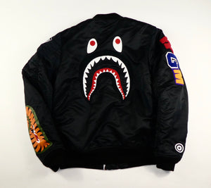 Bape Shark Bomber Jacket - Small