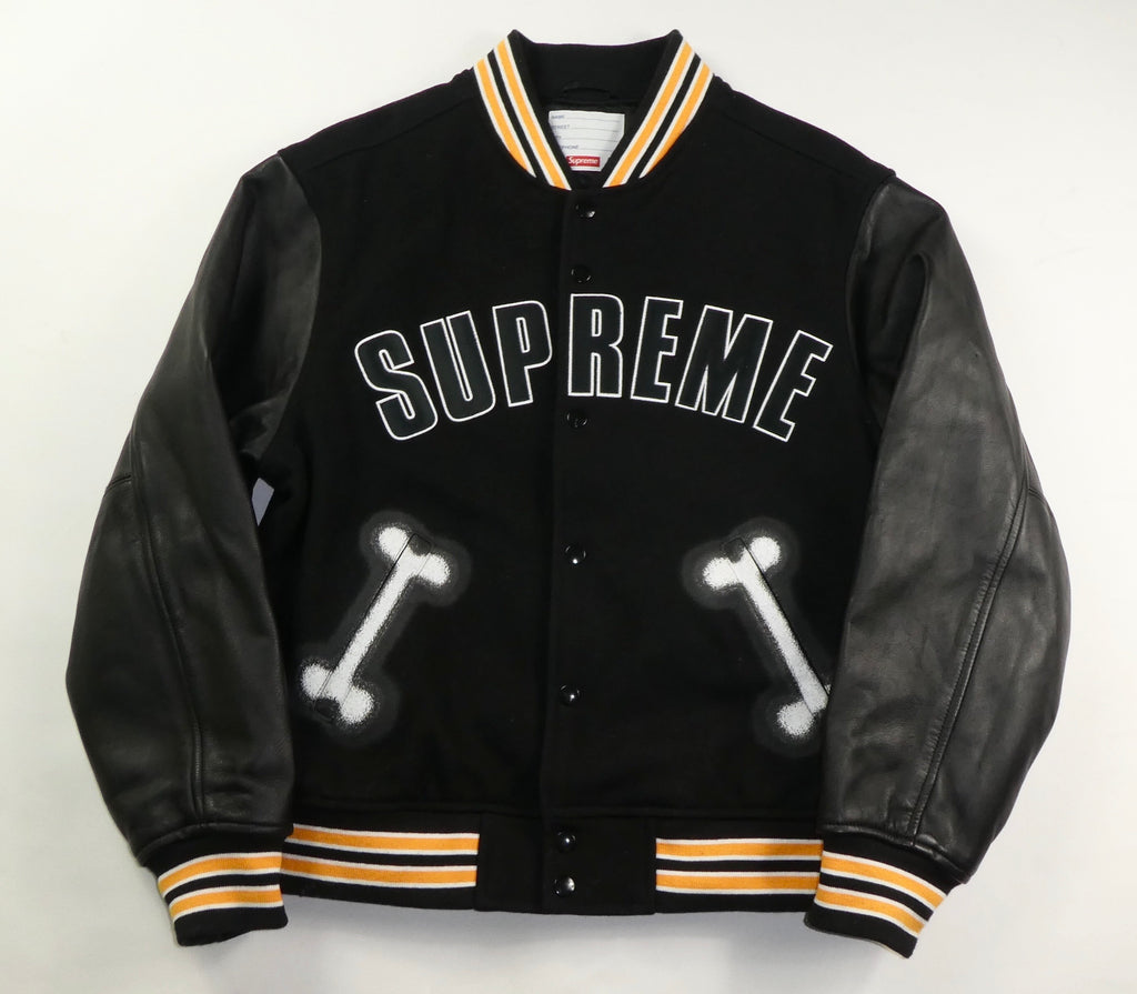 Supreme Bones Varsity Jacket - Medium