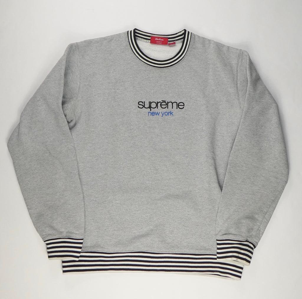 Supreme Classic Logo Ribbed Sweatshirt- Medium