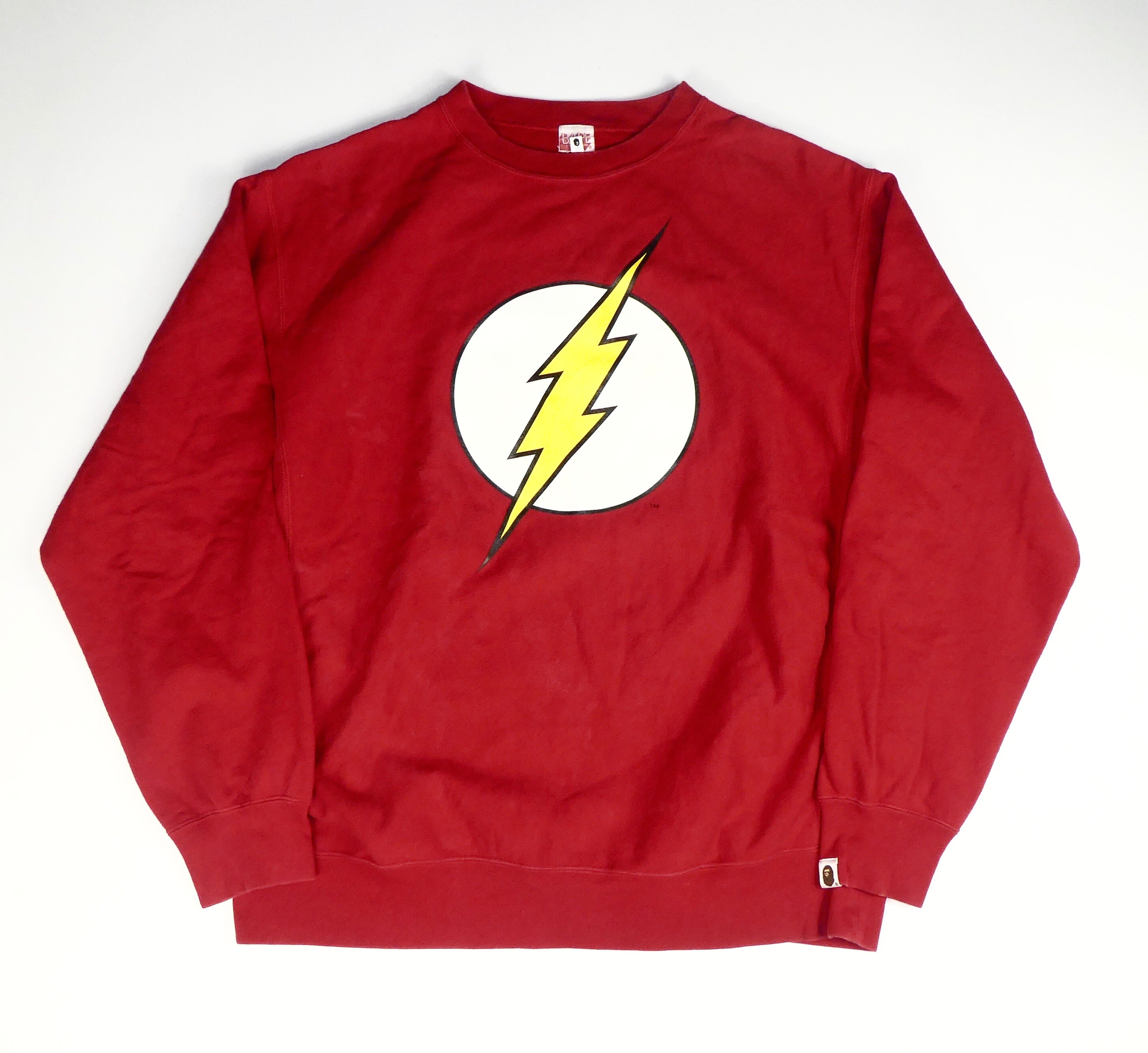 Bape x DC Comics Flash Sweatshirt - XL