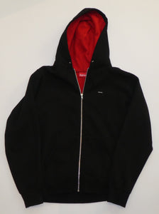 Supreme Small Box Logo Contrast Zip Hoodie