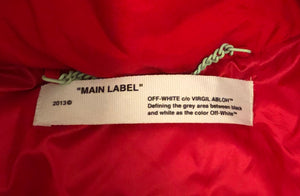 Off White Quote Puffer Jacket - Medium