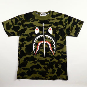 Bape Camo Shark T Shirt - Medium