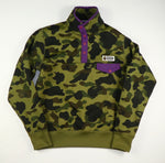 Bape Camouflage Snap Pullover Sweatshirt- Small