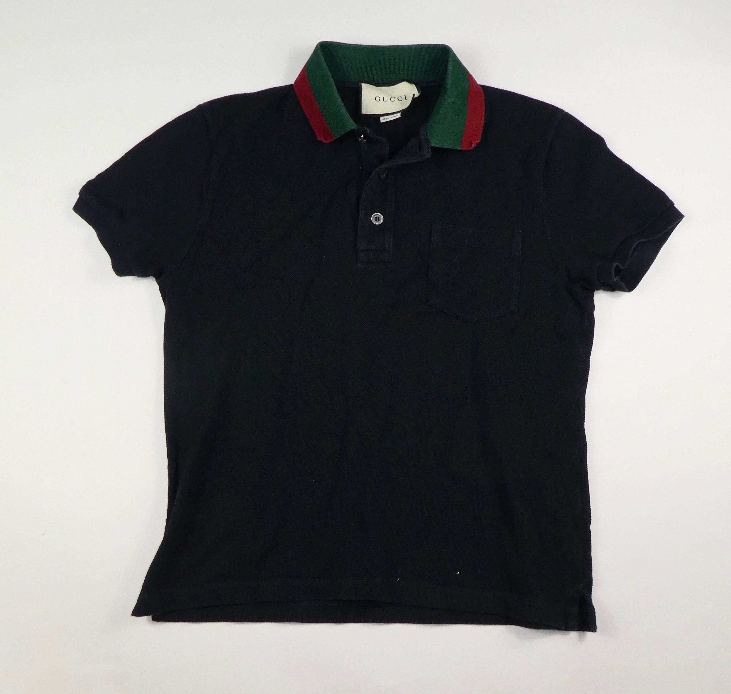 Gucci Collar Polo Shirt (black) - Small