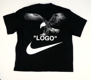 Off White x Nike Mock Neck Eagle T Shirt - XS