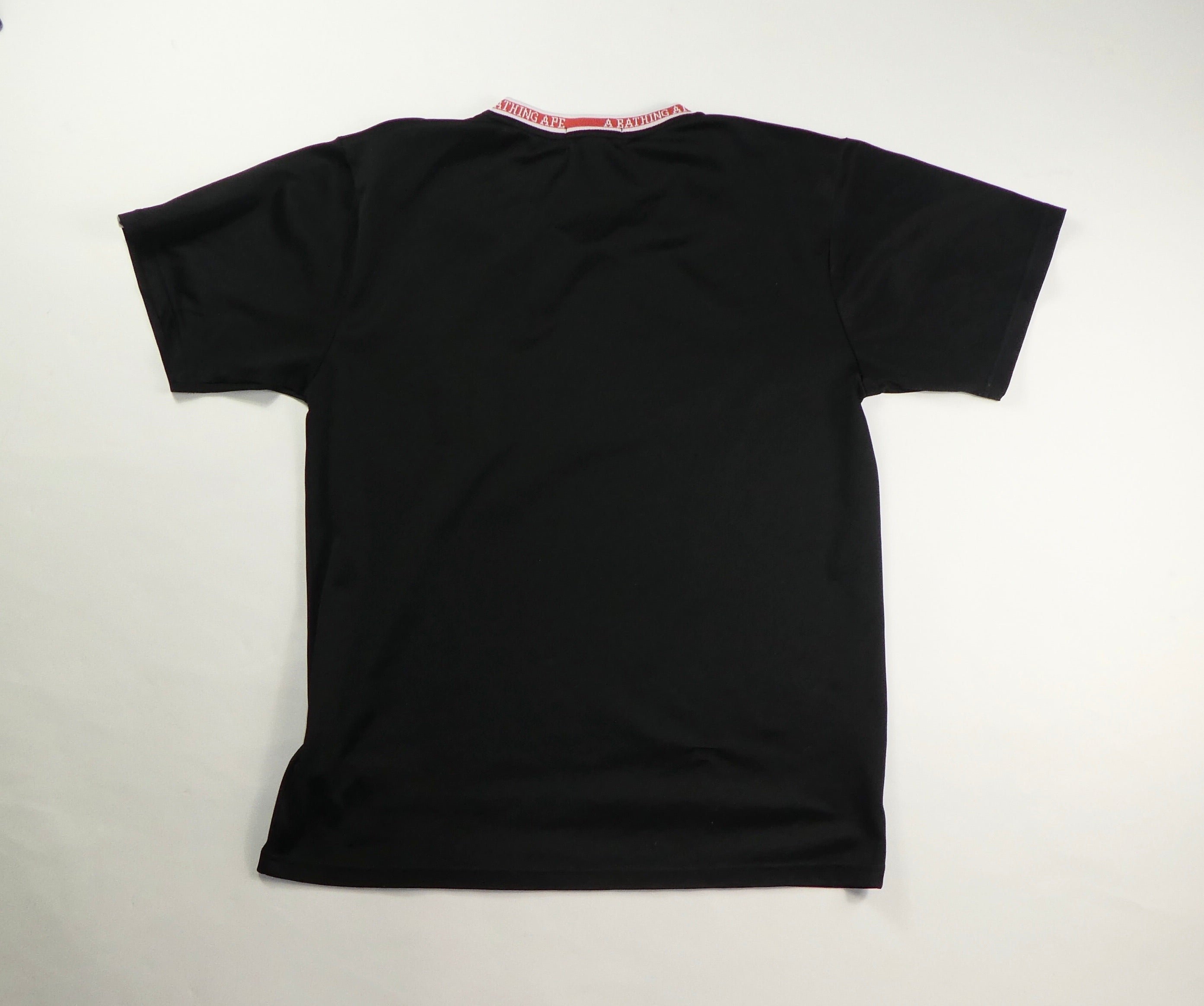 Bape V Neck Jersey T Shirt - XL