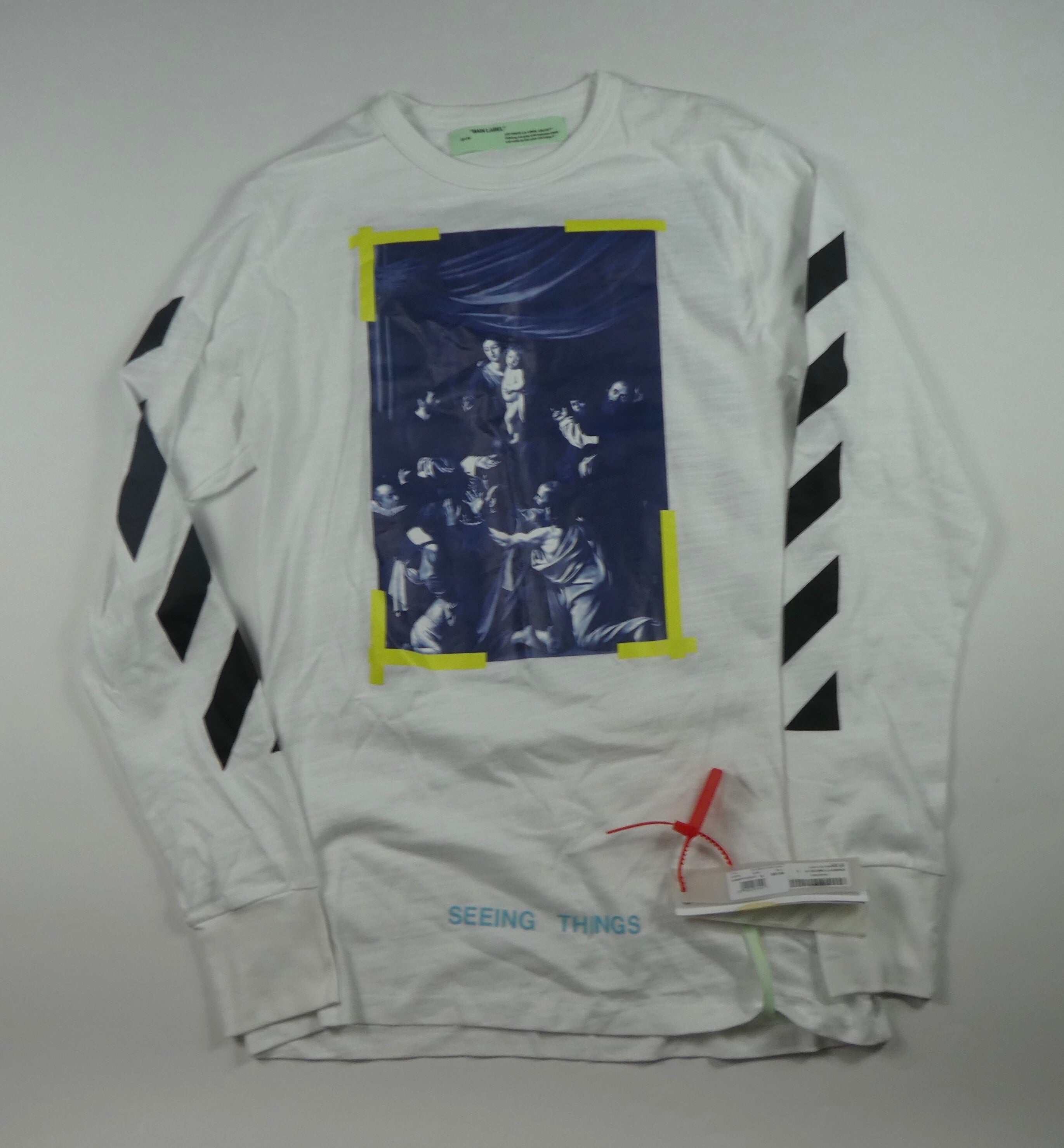 Off White Virgil Abloh Caravaggio Longsleeve T Shirt - Large