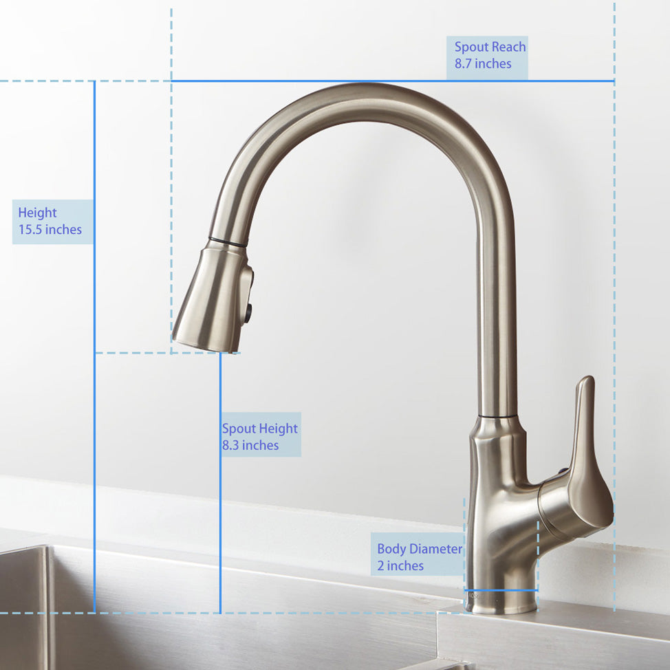 Touch Kitchen Faucets | Smart Touch Kitchen Faucets With Pull Down Sprayer Aosgya