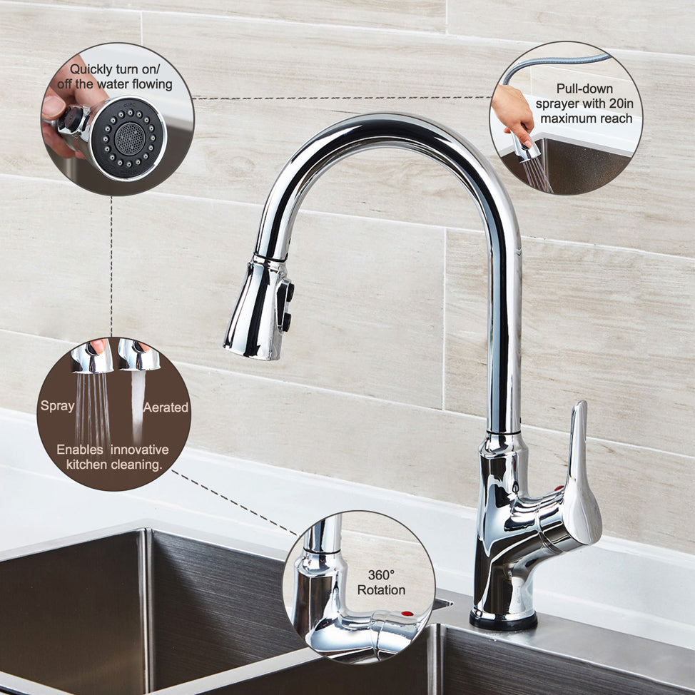 Charmant Smart Touch Kitchen Faucets With Pull Down Sprayer