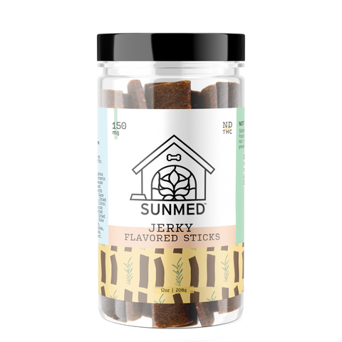 Your CBD Store Dog Treats. CBD Dog treats flavored jerky stocks for dogs with pain anxiety. cbd for dogs
