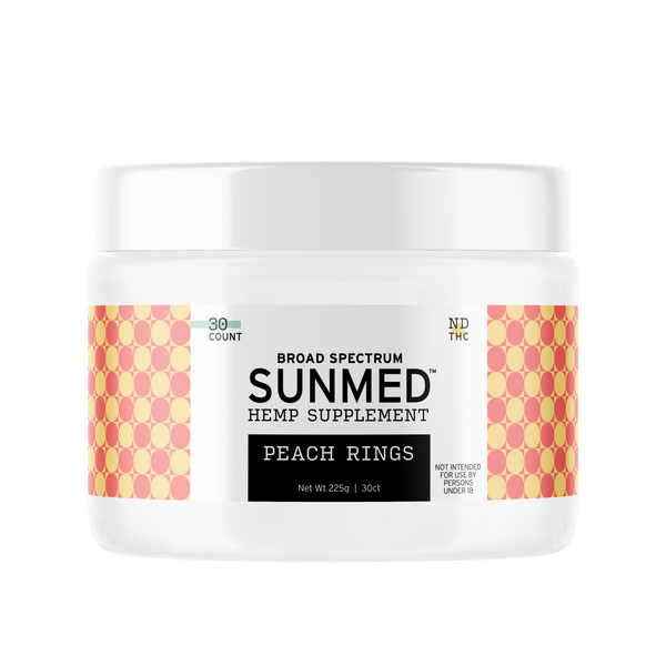 SunMed CBD peach rings anxiety