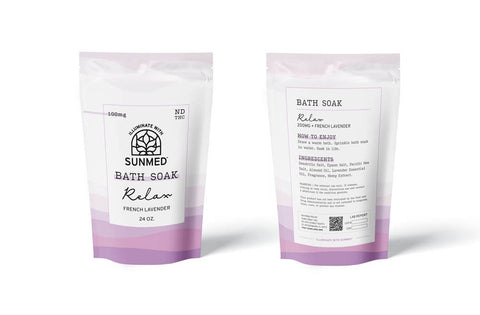 Relax with CBD Bath Salts Soak French Lanvender 200mg