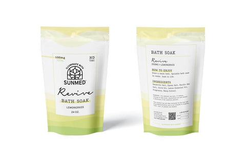SunMed CBD Bath Soaks revive LemonGrass