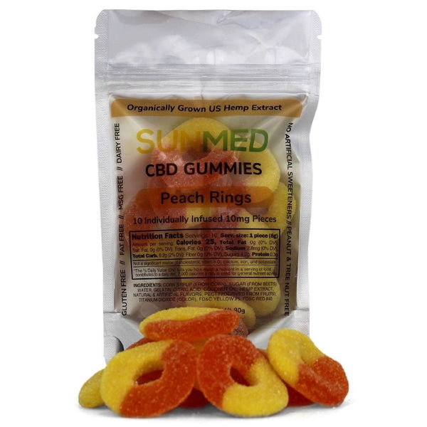 Your CBD Stors Spring Texas Products. SunMed CBD Gummy Peach
