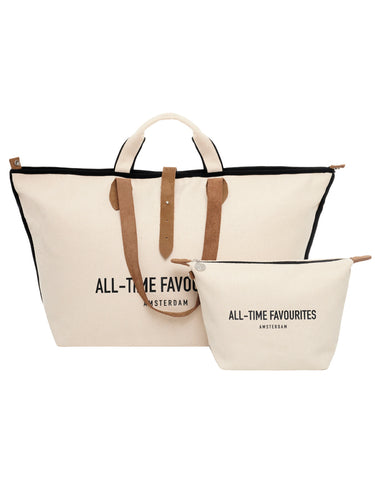 Kleine shopper London style beige