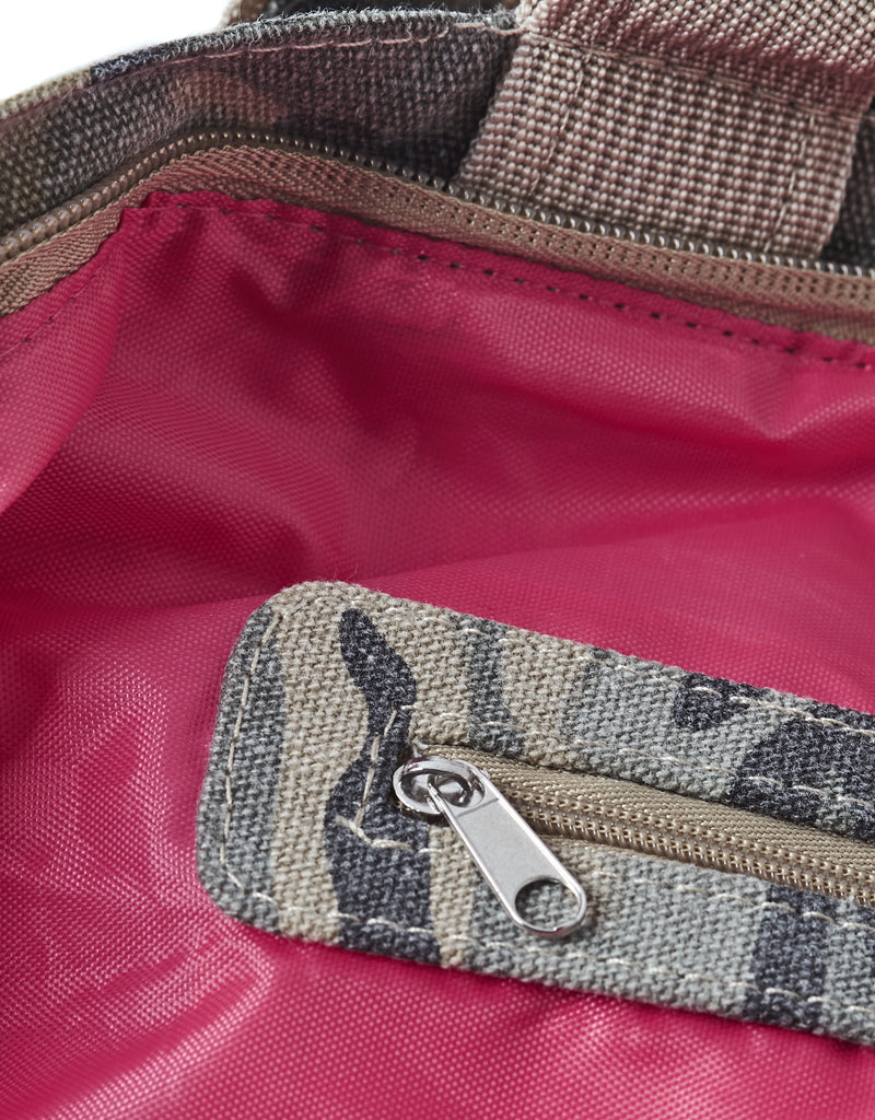 beach bag with zipper camouflage