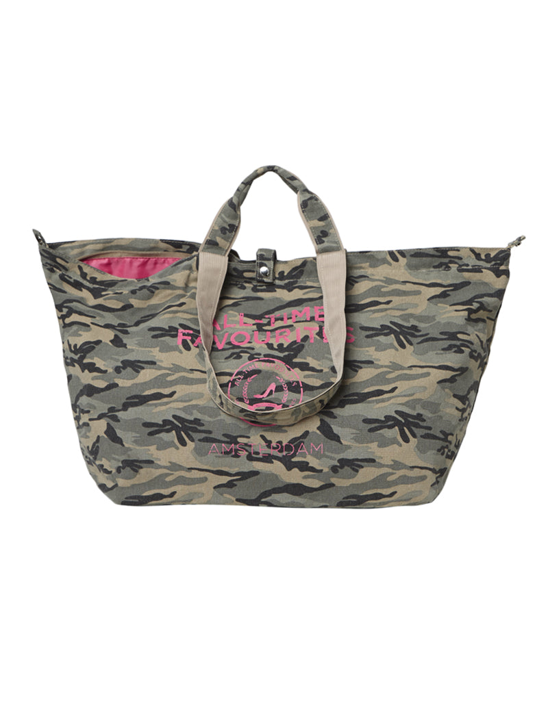 Kleine shopper army print met rits All-time Favourites