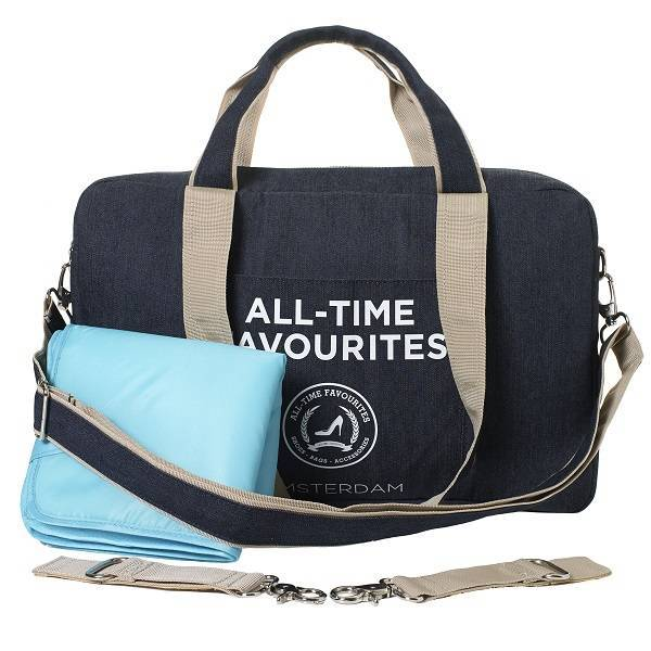 mommy bag denim blauw All-time Favourites