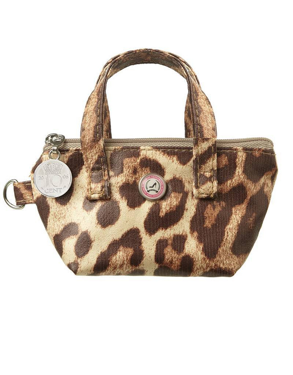 key bag leopard with zipper