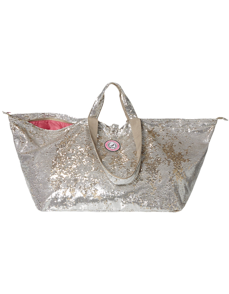 big shopper with zipper where to buy sequin silver