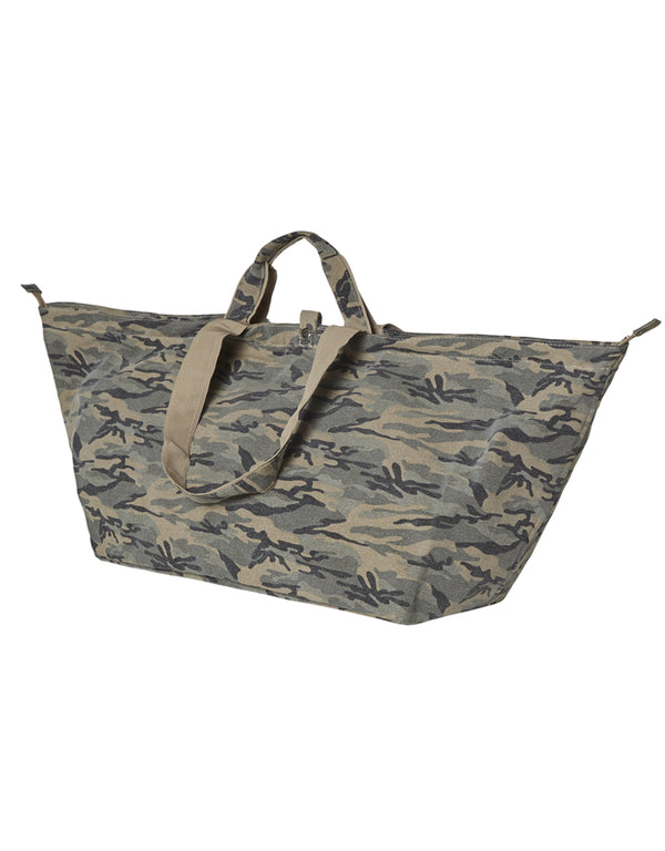 Grote shopper met rits camouflage