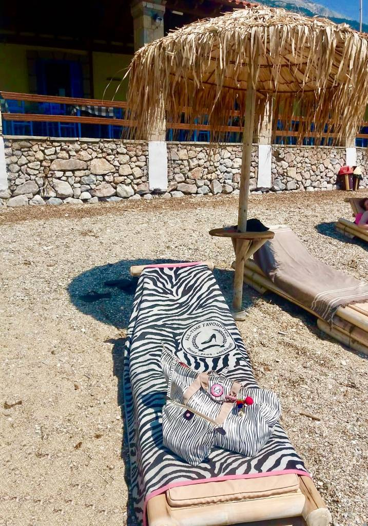 beach towel zebra
