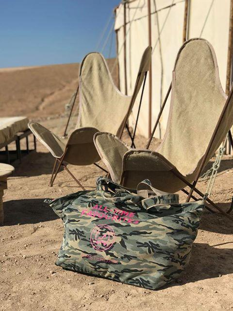 Grote tas met rits army print All-time Favourites