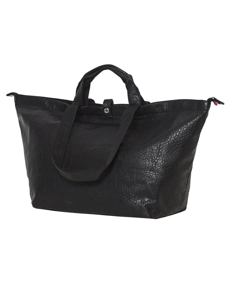 small shopper black with zipper