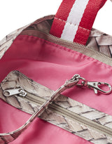 kleine strandtas met ritssluiting straw red All-time Favourites