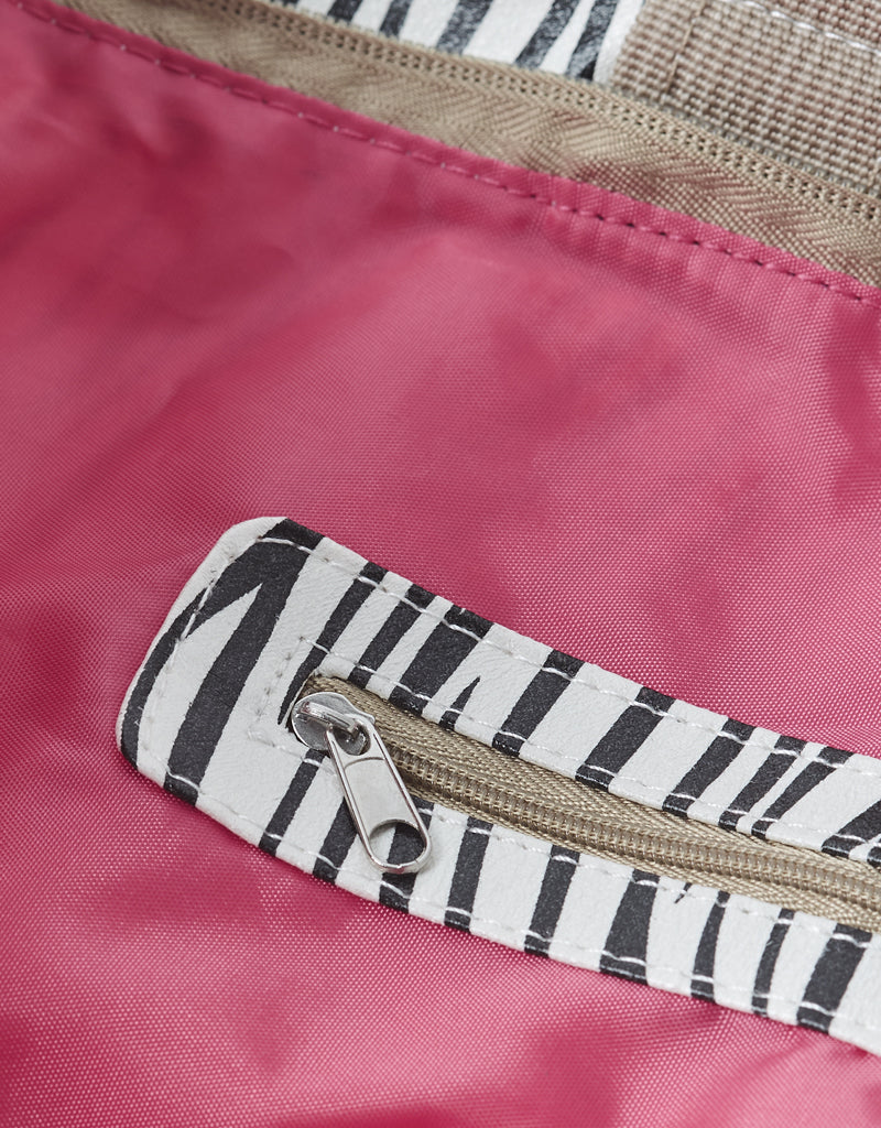 grote shopper met rits strandtas zebra All-time Favourites