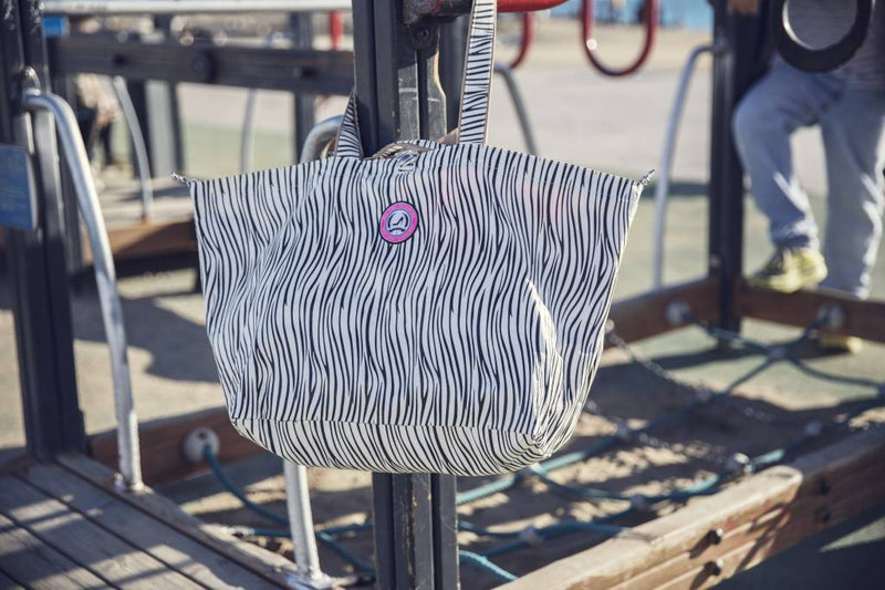 beach bag shopper small zebra