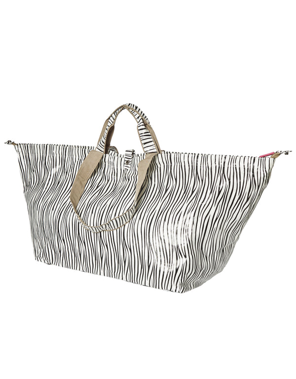 large beach bag shopper zebra