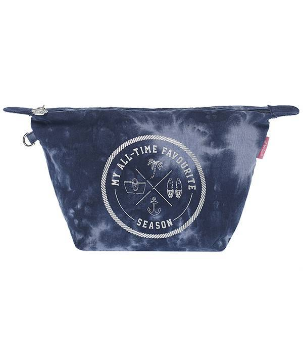 Cosmetics Bag Tie Dye Blue