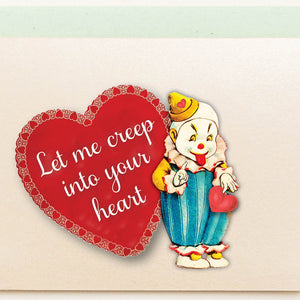 Creepy Clown Valentine's Day Card