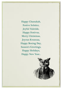 Let's be inclusive in our holiday greetings...at least as inclusive as we can be.